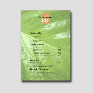 Les Domaines bio /// menu