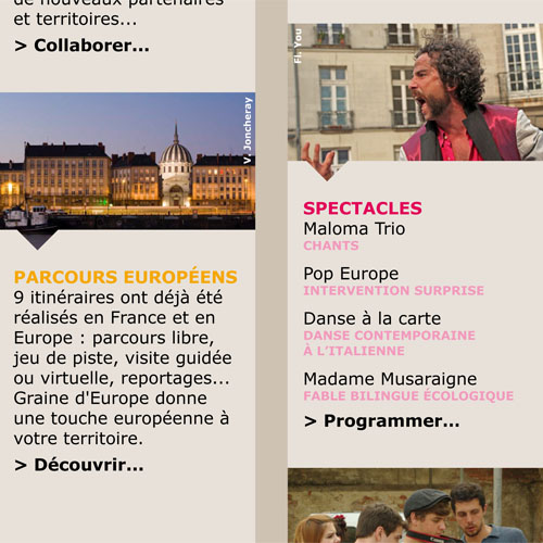 Graine d'Europe /// Newsletter collectivités