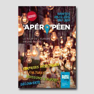 Graine d'Europe /// Apéro'péen /// flyer recto